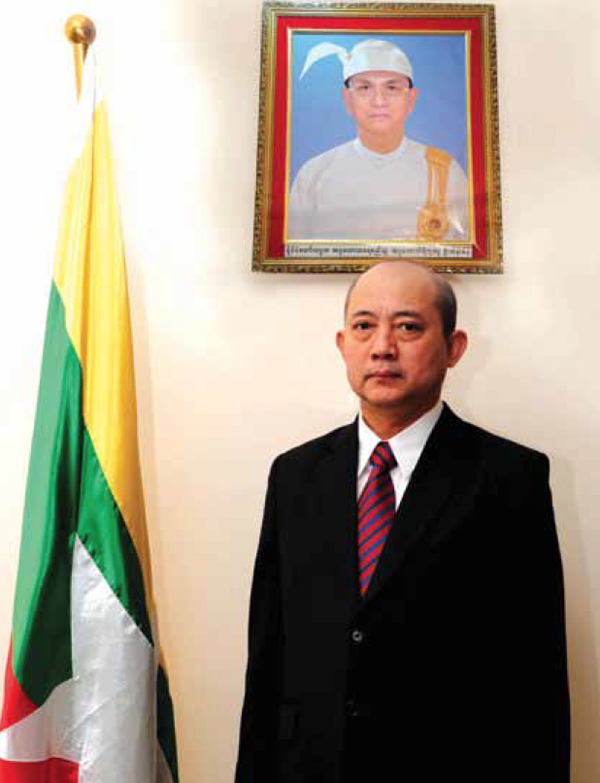 His Excellency Ko Ko Latt Ambassador Extraordinary and Plenipotentiary of the Republic of the Union of Myanmar to Kuwait