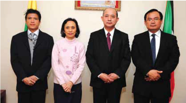 His Excellency Ko Ko Latt Ambassador Extraordinary and Plenipotentiary of the Republic of the Union of Myanmar to Kuwait.