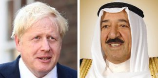His Highness the Amir congratulates Britain's new prime minister